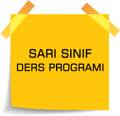 sarı sınıf ders programı